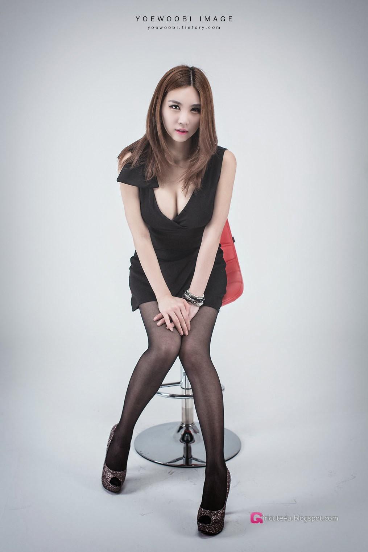 5 Lee Eun Yu - Little Black Dress - very cute asian girl-girlcute4u.blogspot.com