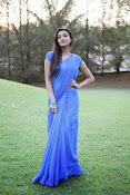 Neelam Upadhyay pics in Blue saree-thumbnail-15