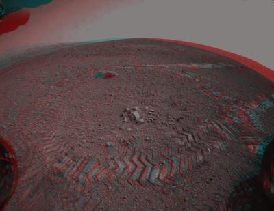 mars anaglypt MSL navcams sol 16