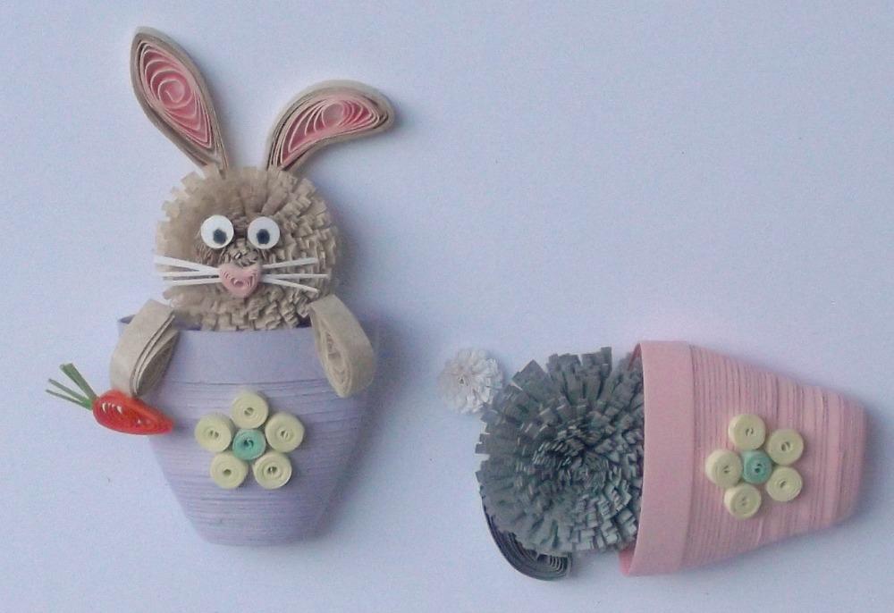 Quilled Bunnies Birthday Card