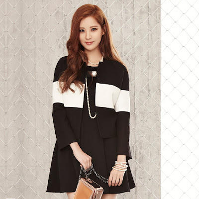 Seohyun in MIxxo Color Block Jacket