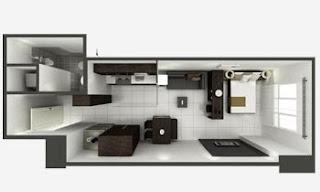 Senta Makati Studio Unit Plan