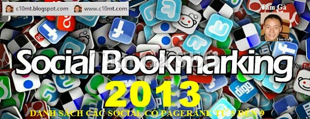 Social Bookmarking Dofollow Sites High Pagerank 3 to 9