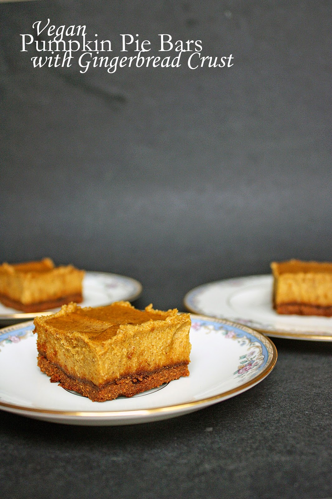 Gluten-free pumpkin pie cheesecake bars with gingerbread crust