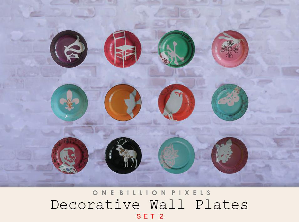 Decorative Wall Plates Set Of 4 : Decorative wall plates one billion pixels