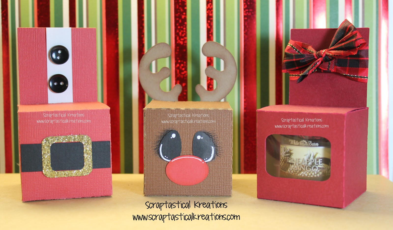 Scraptastical Kreations: CUTE Candle Boxes and Sanitizer Holders
