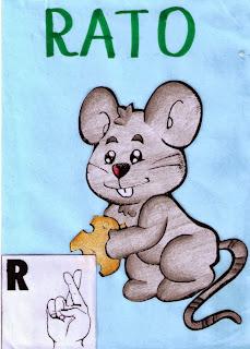 alfabeto libras colorido R