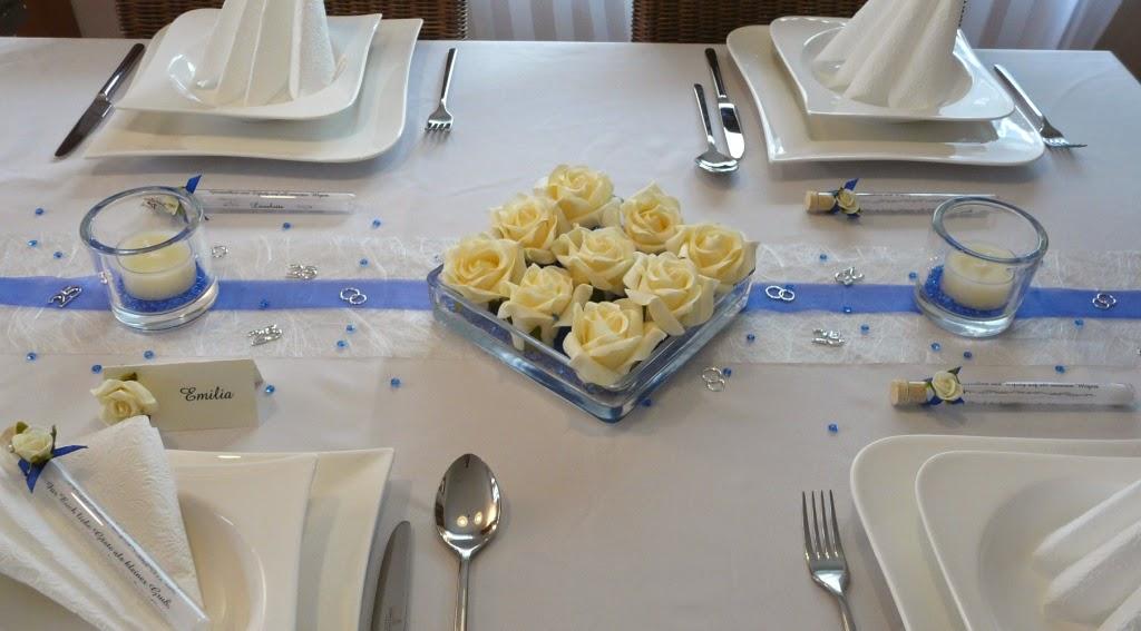 Tischdekoration und hochzeitdeko tischdeko online - Deko zur silberhochzeit ...