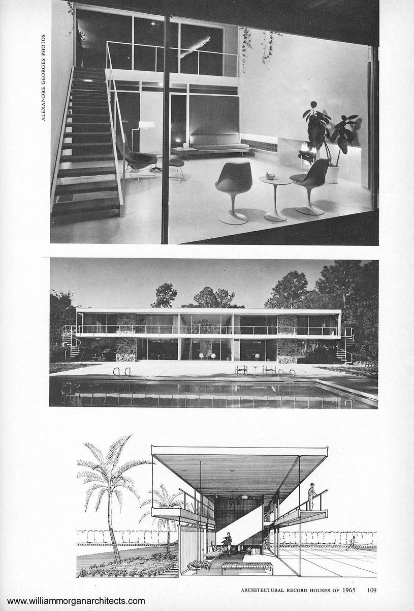 Arquitectura de Casas: Moderna casa residencial del año 1965 en Florida.