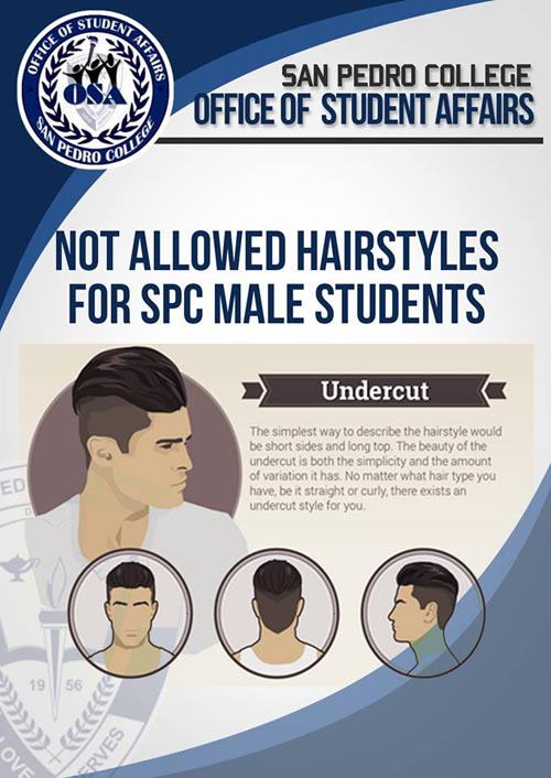 San Pedro College hairstyle for male students undercut