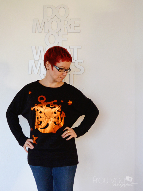 Fledermaus-Shirt mit Plottermotiv zum MMM @frauvau.blogspot.de