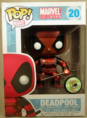 San Diego Comic-Con 2013 Exclusive Metallic Deadpool Pop! Marvel Vinyl Figure by Funko