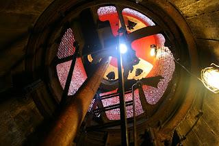 Wnętrze bunkra Regelbau 120A - Kopuła peryskopu