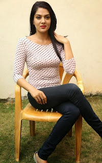Sakshi Chowdary in Glamorous Pics Tight Polka Dot Top and Leggings
