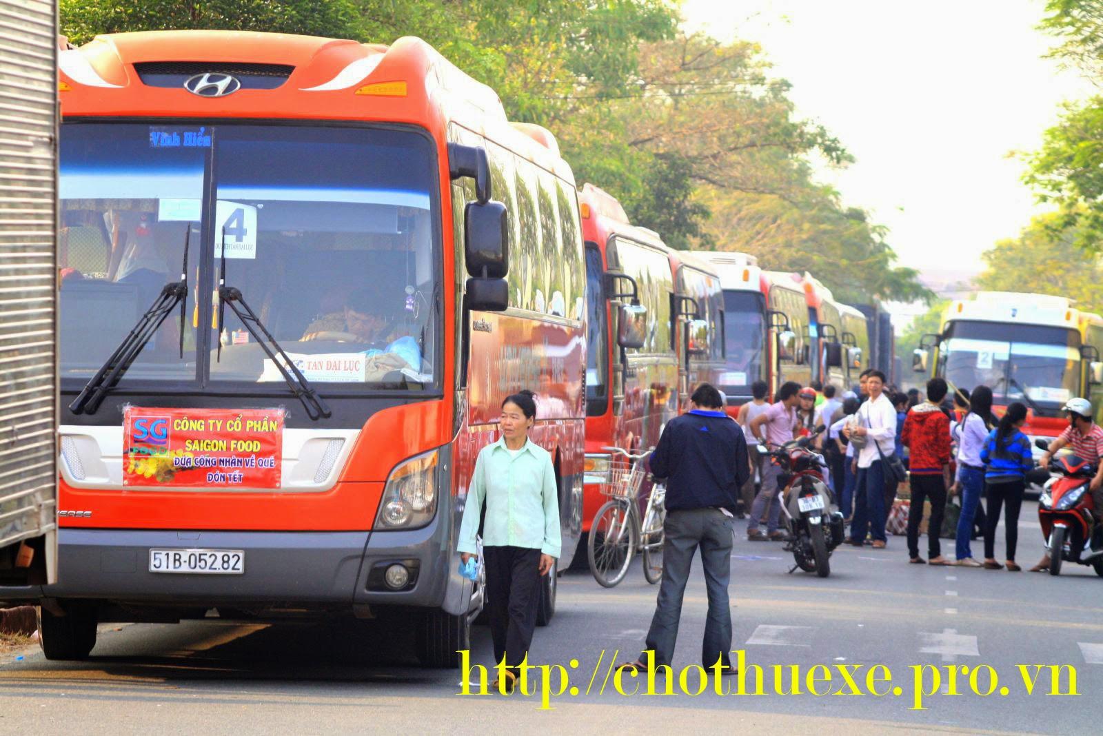 Cho thuê xe đưa đón nhân viên về quê ăn tết 2015 - Ất Mùi