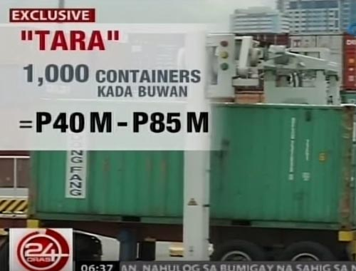 Customs Tara for containers in the ports