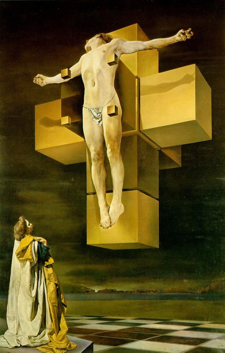 the monkey buddha  3d  u0026quot dali u0026 39 s crucifixion u0026quot  by paul micarelli
