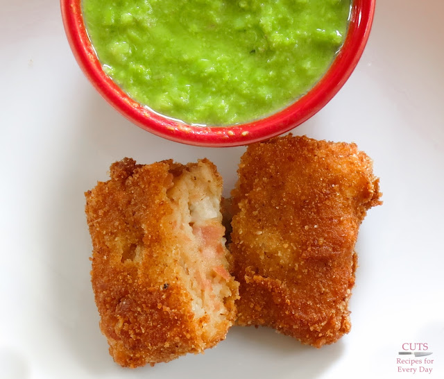 Peas, ham, fried, croquettes, dumplings