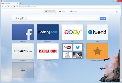 Nueva imagen del buscador Opera