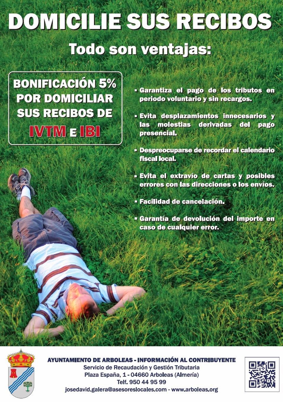 Bonificación 5% Domiciliación