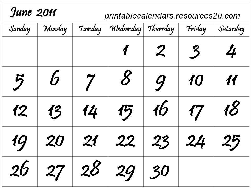 june 2011 calendar print. june 2011 calendar print.