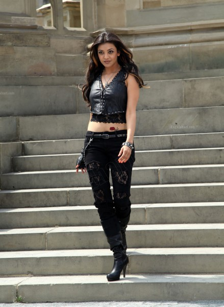 Kajal Agarwal in torn jeans and Black Leather jacket, Fashion Fiesta 2012