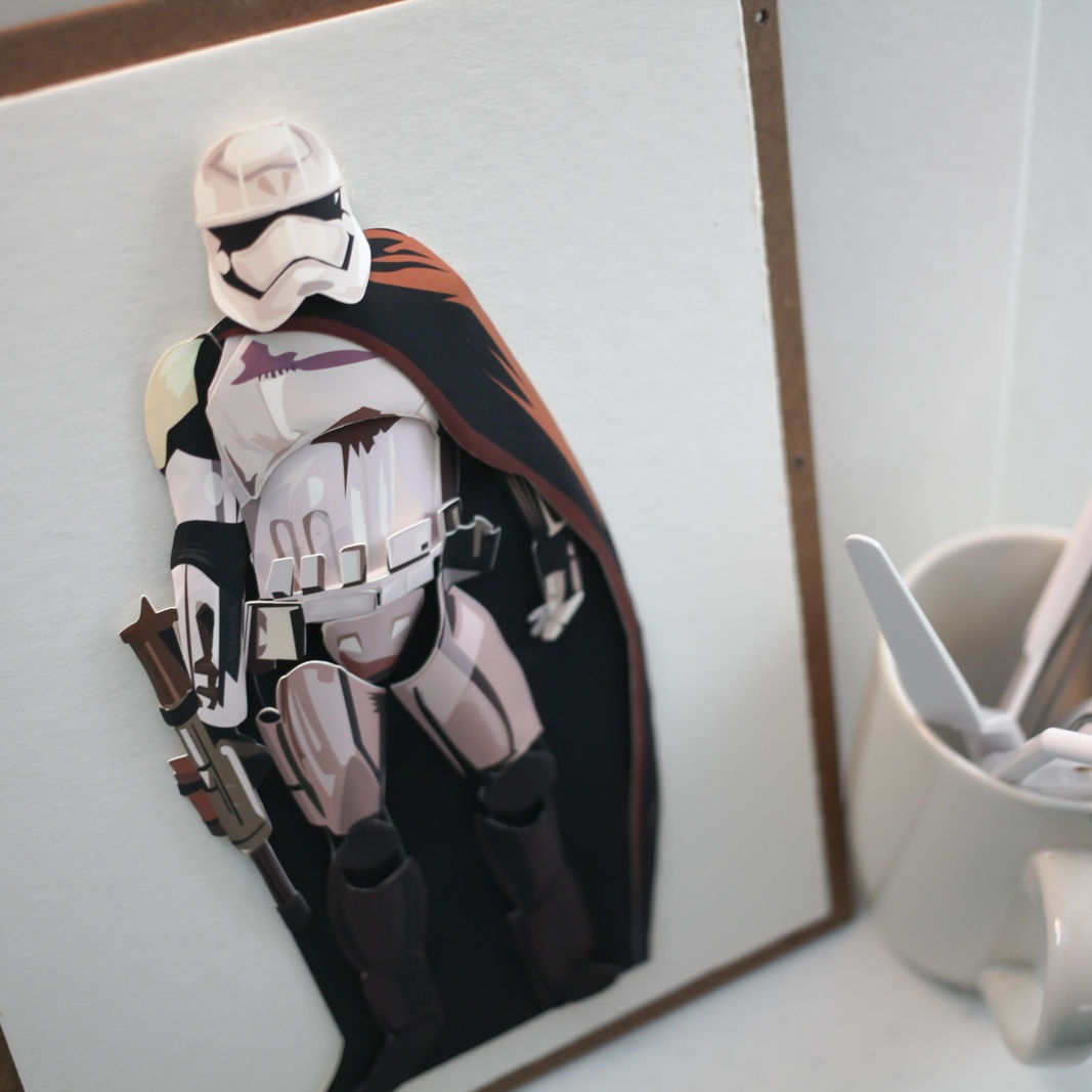 how to make star wars models with paper