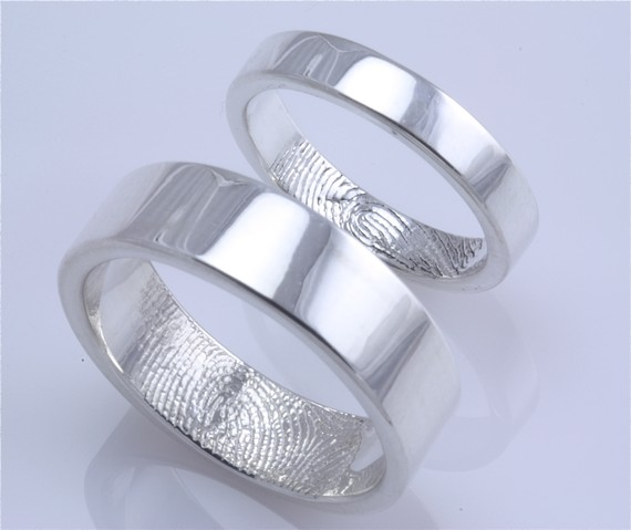 Fab Find Fingerprint Wedding Rings