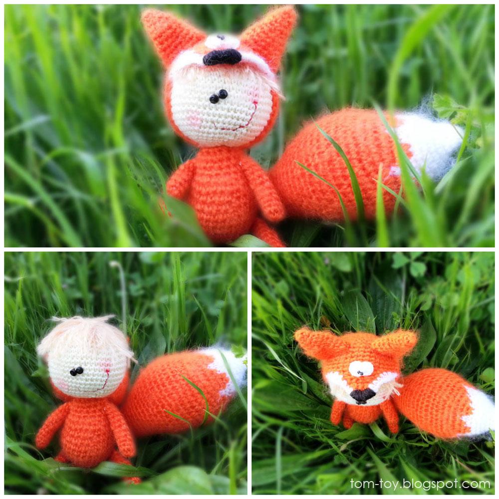 Crochet baby fox