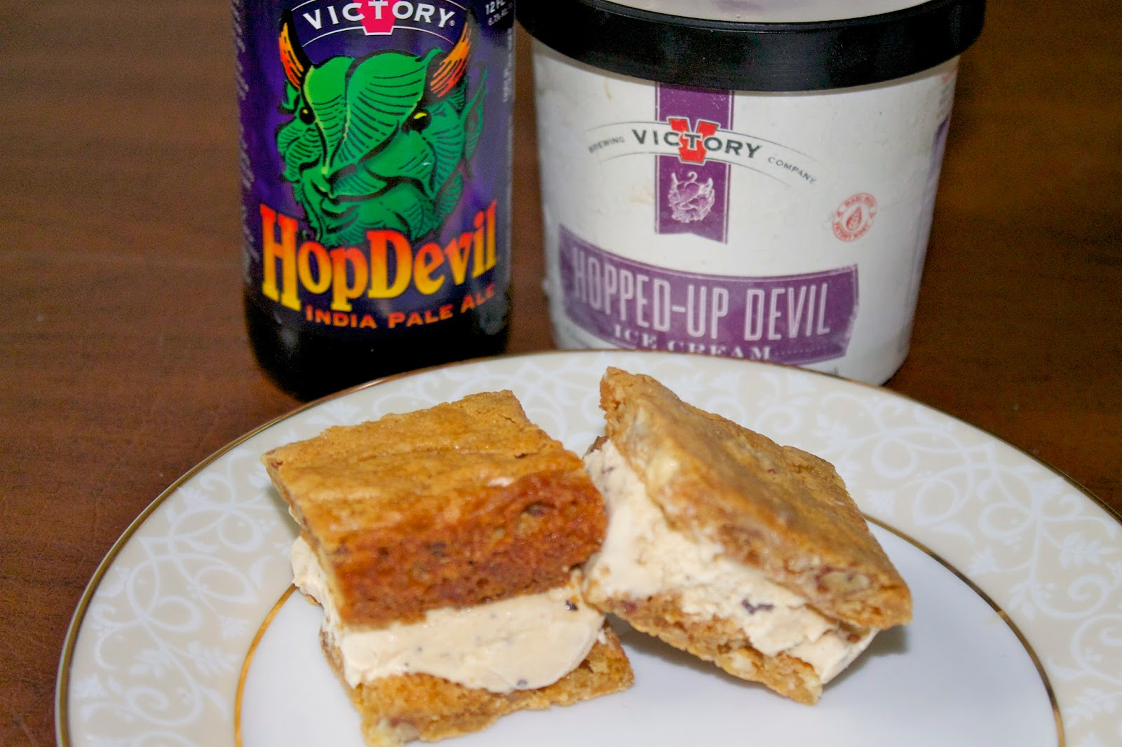 Hopped-Up Devil Butterscotch Brownies