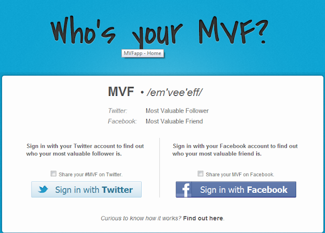 Who's your most valuable friend on Facebook and twitter