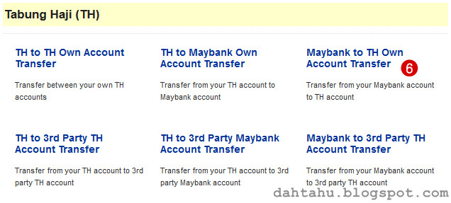 Maybank2u Maybank Transfer ke Tabung Haji 2-6