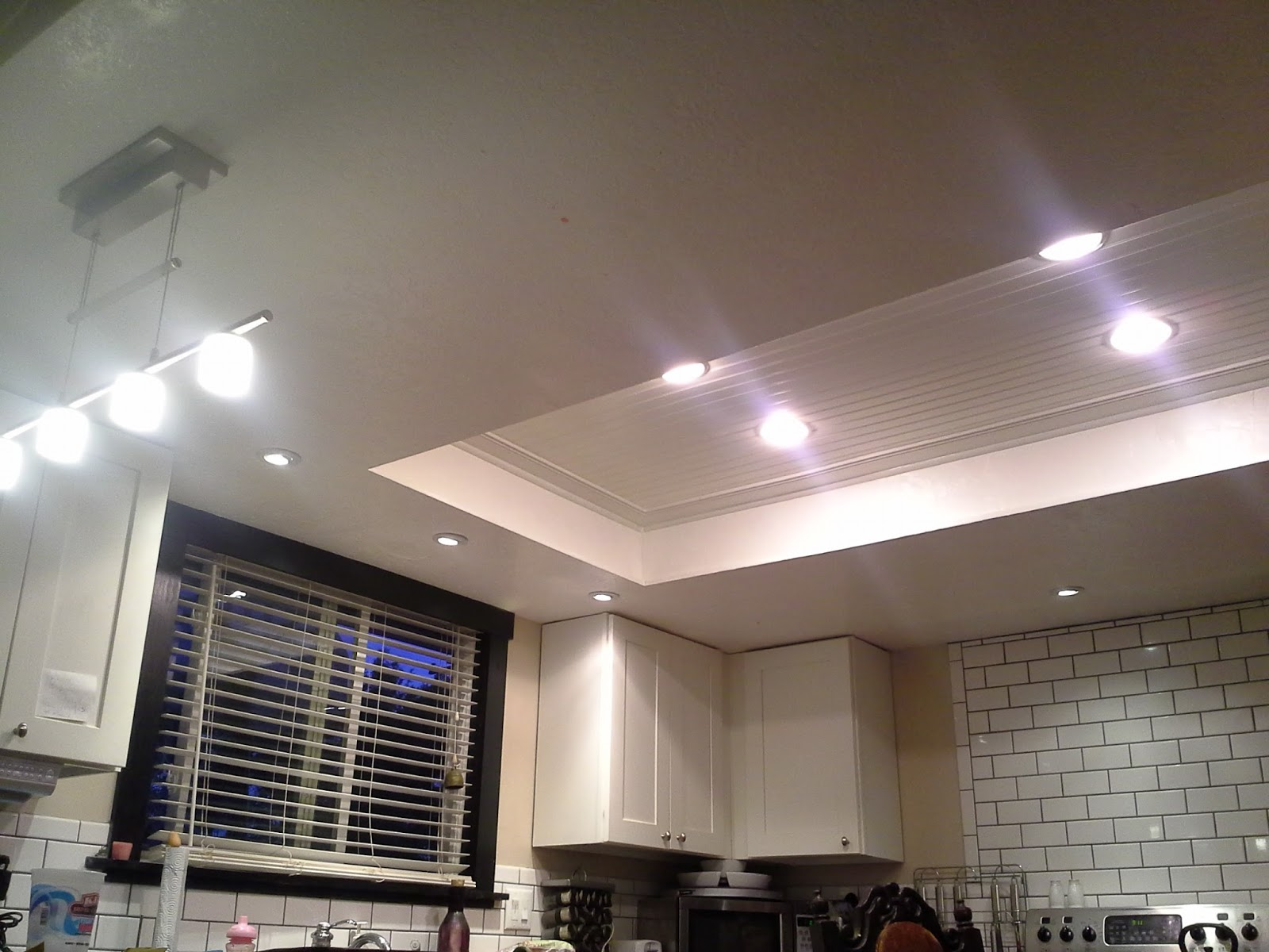 Drop Lights Kitchen Democraciaejustica - Kitchen ceiling light box