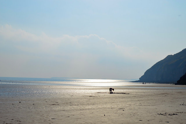 Girl on Pendine Sands