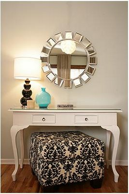 DIY Vanity Tables http://livingbeautifullydiy.blogspot.com/2011/08/vanity-table.html