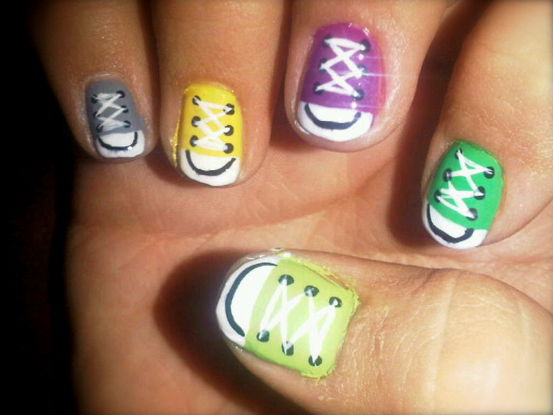 Sneakers Nail Art Design Nailarts Ideas
