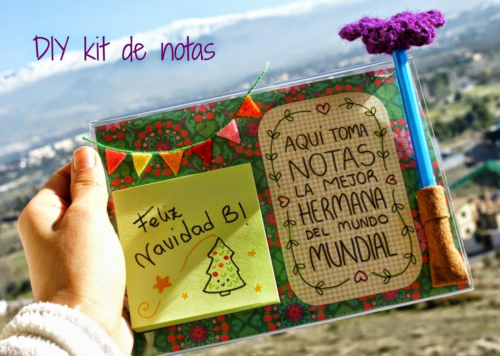 kit de notas realizado por Irene