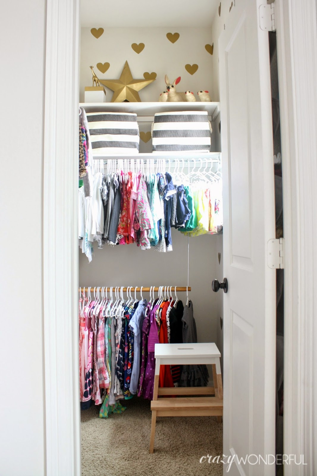 I Think The Biggest Help Was Adding The Double Hanging Closet Rod On The  Wall That