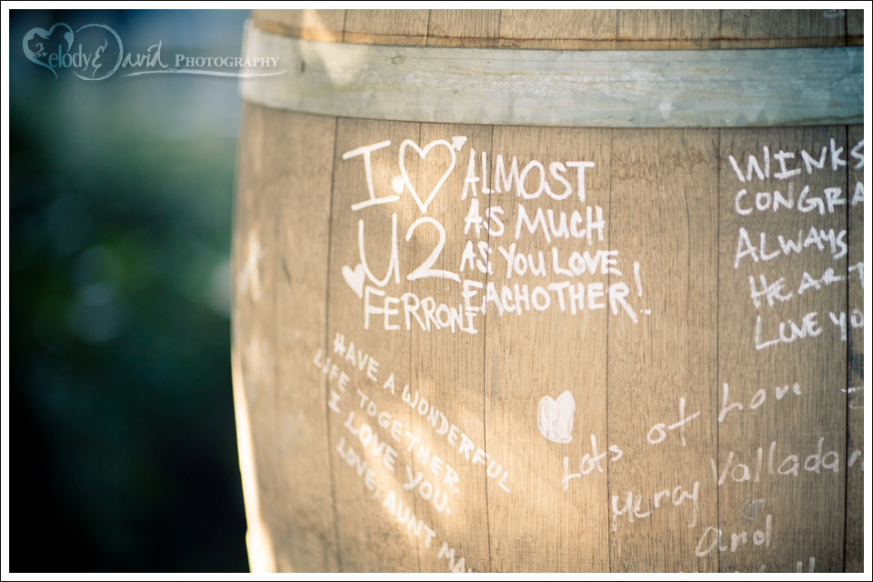 Have guests sign in on a wine barrel