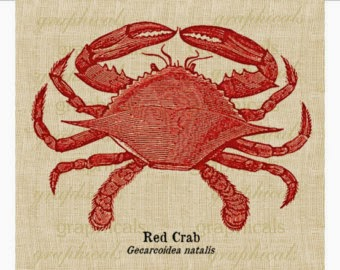 a Red Crab linen