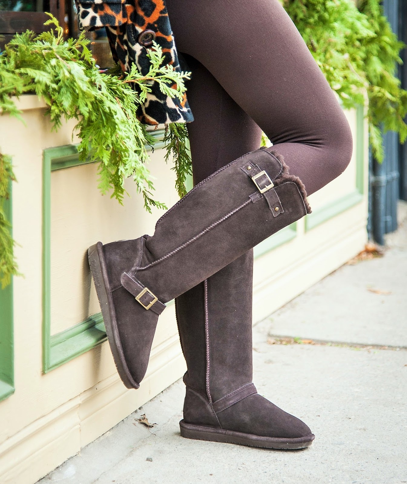 HOLIDAY WEEKEND SHOPPING OUTFIT FEATURING BEARPAW JOHANNA WINTER BOOTS