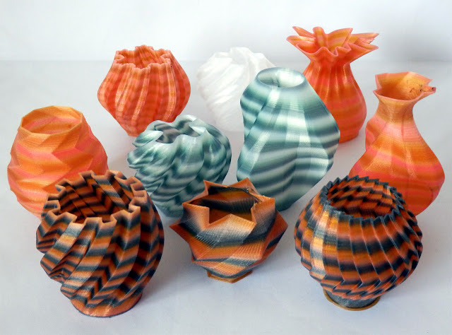 3D Printing with Nylon 618 filament in Tie-Dye colours