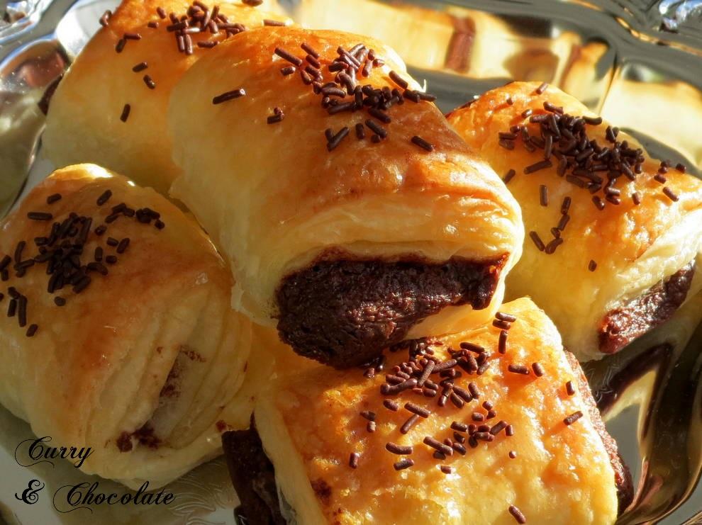 Mini napolitanas rellenas de Nutella o Nocilla