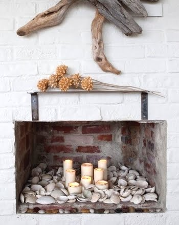 Candles For Fireplace Decor decorating with candles coastal style - completely coastal