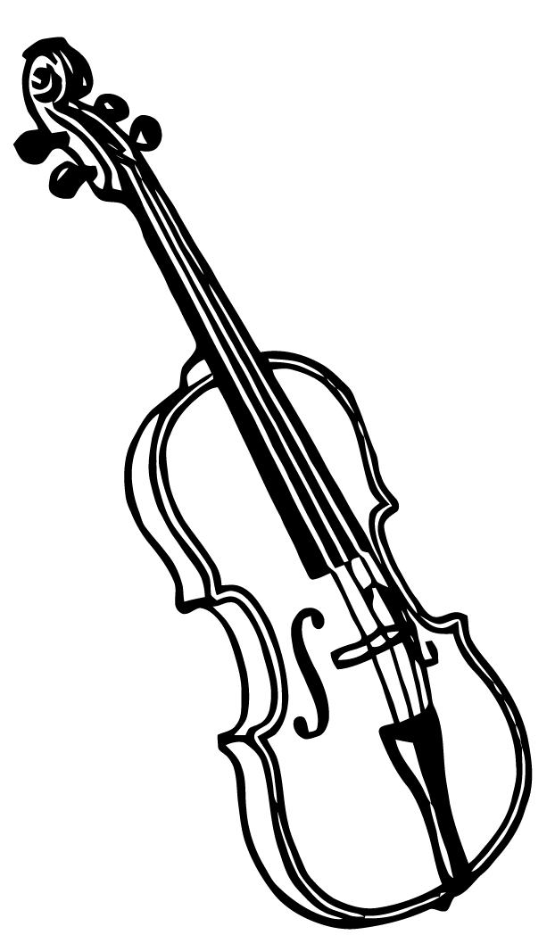 Line Drawing Violin : Ephemeraphilia free vector art violin