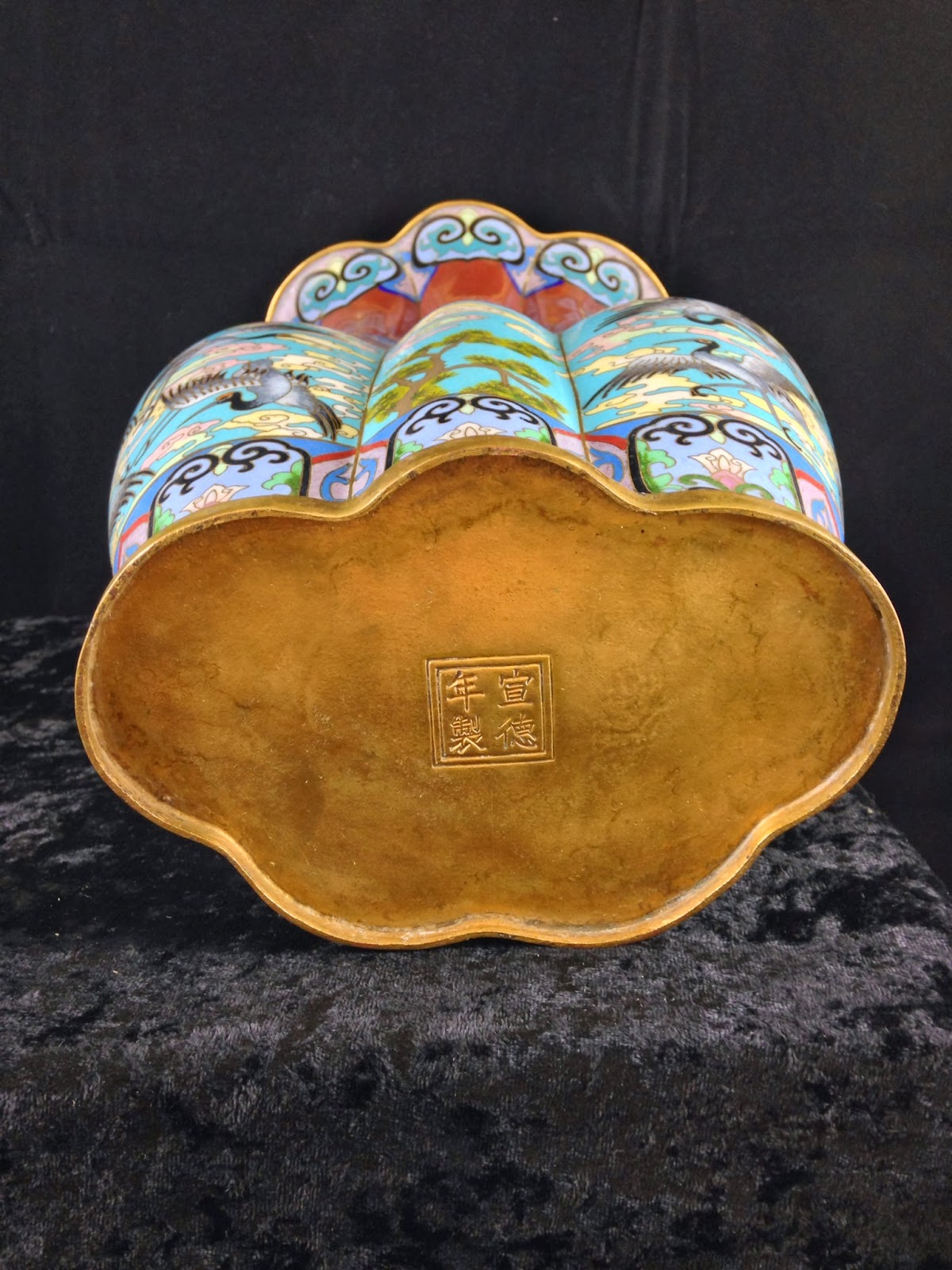 Asian antiques chinese antique lobed cloisonn vase reviewsmspy