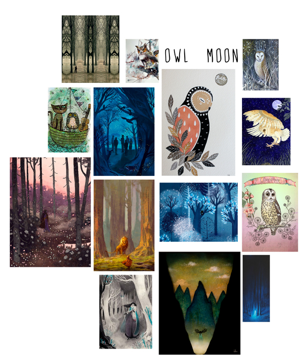 Owl Forest Inspiration Board Nicole Piar