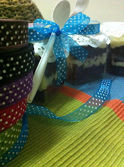 "The Colour of Ribbons ""Cake in Jar"""