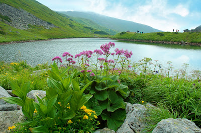 Lago junto a las Montañas en Eslovaquia