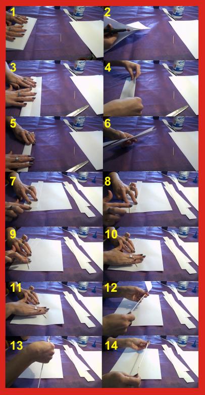 Varitas de papel para manualidades